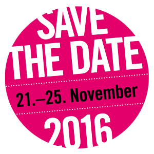 save the date: 21.-25. November 2016